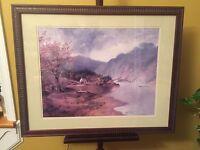 "Print Mountain Lake & Cabin Nicely Framed 25""x30""X2""D.C12pics4details.MAKE OFFER"