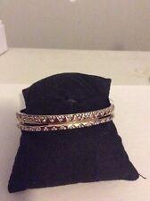 $88 House Of Harlow Gold Tone Ouland Bangle Bracelet HH-37