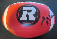 Ottawa RedBlacks CFL Football soft souvenir ball w/autos Capicciotti Verdone