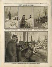 Pare-Balles Tranchées Poilus Soldats Bataille de l'Argonne Lorraine 1915 WWI