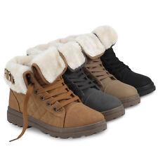 Damen Stiefeletten Winter Boots Warm Gefütterte Outdoor Schuhe 77702 Schuhe