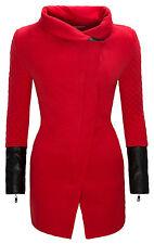 Damen Jacke Mantel lang gesteppte Ärmel Damenjacke Strehkragen warm D-125 NEU