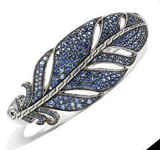 500 John Hardy Sz M Classic Chain Feather Blue Sapphirecuff Bangle Women