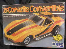 VINTAGE 1/25 SCALE MPC 1975 CORVETTE CONVERTIBLE MODEL KIT 6360 SEALED IN BOX