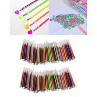200 pezzi ricariche per penna gel glitter da colorare disegno cancelleria