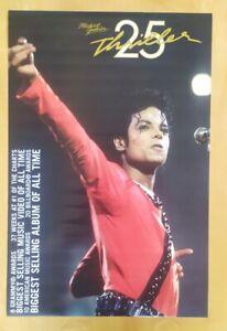 Vintage Poster Michael Jackson Licensed Thriller 25 anniversary Rare original