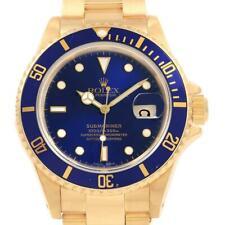 Rolex Uboot 18K Gelbgold Ziffernblatt Blau Blende Herren Armbanduhr 16618