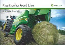 Farm Equipment Brochure - John Deere - F440E et al Round Balers - 2013 (F5857)