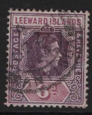 Leeward Island SG109a,  6d Deep dull purple and Bright Purple FINE USED.