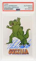 2019 Philo Barnhart Signed Godzilla Animation Cell Trading Card (PSA Slabbed)
