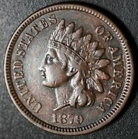 1879 INDIAN HEAD CENT - With LIBERTY & DIAMONDS - VF VERY FINE+