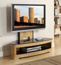 "Jual Furnishings JF209 Oak Cantilever TV Stand With Bracket up to 60"" TVs"