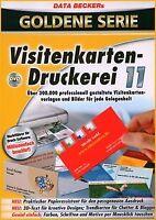 Visitenkartendruckerei 11 von Data Becker | Software | Zustand gut
