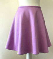TED BAKER Purple Full Skirt Womens Above Knee Ted Size 2 UK Size 10