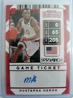 2020 Panini Contenders Mustapha Heron Rookie RC AUTO #111 Red Foil Game Ticket