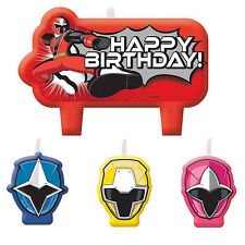 POWER RANGERS PARTY SUPPLIES BIRTHDAY CANDLE SET OF 4 GENUINE LICENSED