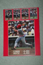"PETE ROSE Autographed Signed 11"" X 14"" Poster Card w/COA Hit That Ties TY Cobb"
