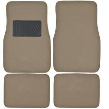 Supreme Plush 4 Piece High Quality Carpet Auto Car Floor Mats Solid Medium Beige