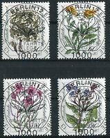 Bund 1188 - 1191 LUXUS gestempelt Vollstempel Berlin ETST Ersttagsstempel Blumen