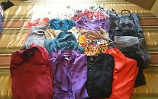 21 pc women's size medium shirts pants dress skirt blouse sweater clothing lot