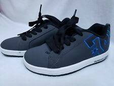 DC Net Suregrip Men's Dark Gray and Blue Leather Skateboard Shoe Sneakers 5M