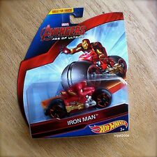 Hot Wheels MARVEL Avengers IRON MAN Diecast Motorbike AGE OF ULTRON MOTOS Track
