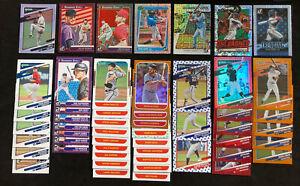 2021 Donruss Baseball Retro 1987 Orange Red Vector Unleashed Variation 62 Cards!