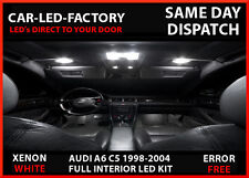 LED UPGRADE INTERIOR LIGHTING 21 LED BULB KIT AUDI A6 C5 S5 1998-2004