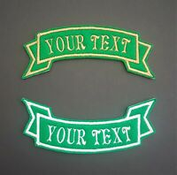 Personalised Embroidered Name Patch Badge Banner Iron on sew on