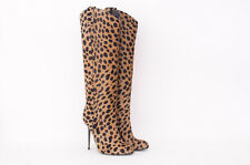 TOM FORD $2800 Leopard Animal Spotted VE Print Pony Calf Hair Western Boots 9/39