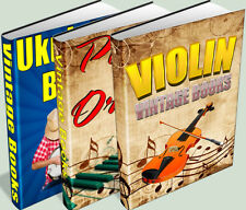 Piano & Organ, Violin and Ukelele & Banjo Collection 171 Books on DVD