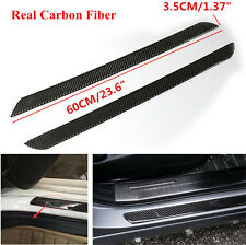 2x 60cm Carbon Fiber Car Door Scuff Plate Sill Cover Panel Guard Step Protector