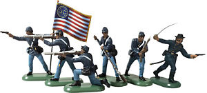 Britains SuperDeetail Union Colored Troops - 54mm painted plastic - flags vary