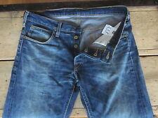 "Lee Jeans DAREN"""" (32/33x35 - Long) SLIM venata-FADE 100% Cotone Button-Fly-EXC"