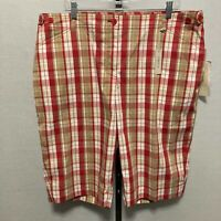 NEW Womens Jones New York Sport Bermuda Walking Golf Plaid Stretch Shorts Sz 18W