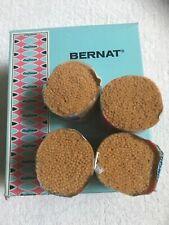 Latch Hook Rug Yarn Bernat 100% Wool Light Gold No 3102 Lot Of 12