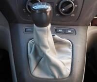 Cuffia leva cambio Fiat Idea vera pelle grigia