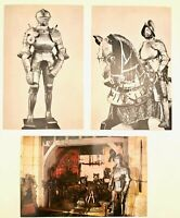 3 x Vintage Higgins Armory Museum of Worcester MA (Now Defunct) Postcards