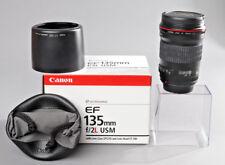 Top-Canon EF 135mm f/2 l USM lens como nuevo; sin usar