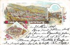Elgersburg Hotel, Panorama, Kurhaus 1898 Litho Postkarte