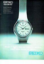 PUBLICITE ADVERTISING 017  1973  la montre Seiko quartz