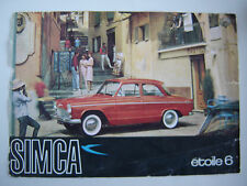 brochure SIMCA ARONDE ETOILE 6 / français couleurs