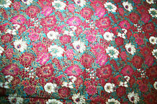 LANDRY FLORAL IN DEEP RED AND WHITE FOR ROSE AND HUBBLE - 100% COTTON FABRIC