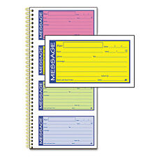 Adams Wirebound Telephone Message Book, 2-Part Carbonless, 200 Forms