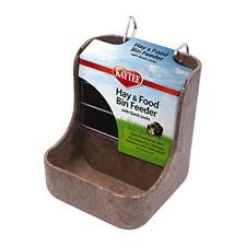 Hay and Food Bin Feeder Dispenser Quick Locks Pet Rabbit Guinea Pig Feeding Bowl