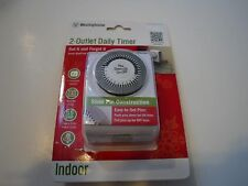 New Westinghouse 2 Outlet Daily Timer Indoor 2 Polarized Outlet Mechanical Timer