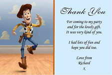 10 Personalised Toy Story Thank You Cards