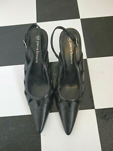 Ladies Size 8 Pierre Fontaine Black High Heels,  Worn Once.
