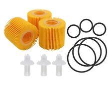 3 Pcs Oil Filter Element for Toyota Prius Corolla Scion IM XD Engine