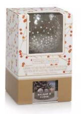 Yankee Candle Mercury Glass Votive Tea Light Holder 12 Balsam Clove Tea Lights